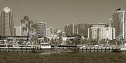 Ben and Raisa Gertsberg - San Diego Skyline In Sepia